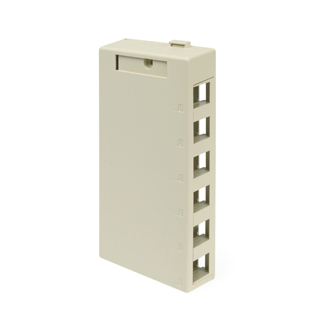 Leviton Surface Mount Box, 6 Port