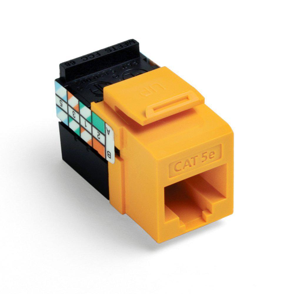 Leviton Cat 5e Jack (Yellow) - Chris Supply Company